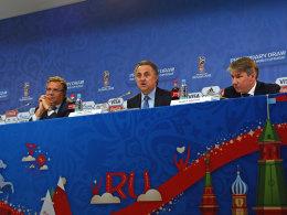 Die FIFA und das russische WM-Organisationskomitee veröffentlichen in St. Petersburg u.a. die WM-Austragungsorte.