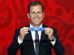 Gute Los für Deutschland: Teammanager Oliver Bierhoff strahlte in St. Petersburg.