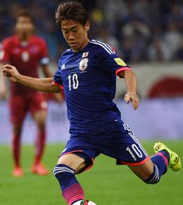 F�r Japan erfolgreich: Dortmunds Shinji Kagawa.
