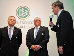 Horst R. Schmidt, Theo Zwanziger und Wolfgang Niersbach