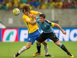 David Luiz und Luis Suarez
