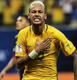 Matchwinner: Brasiliens Superstar Neymar bejubelt seinen Siegtreffer gegen Kolumbien.