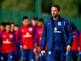 """""""Wir haben das Team auf dem richtigen Weg gehalten"""": Englands Interimstrainer Gareth Southgate."""