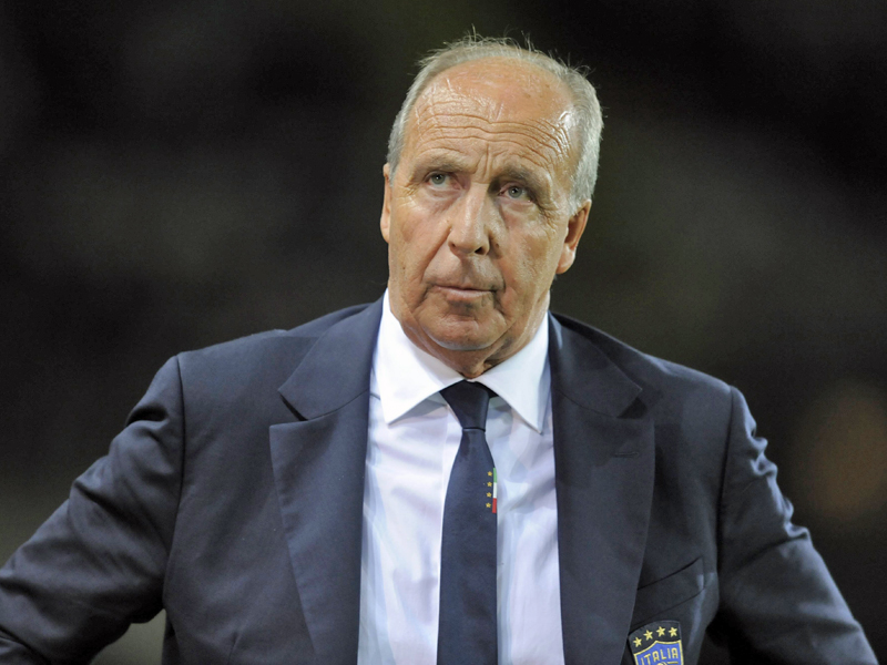Mit dem Rücken zur Wand Italien und Nationaltrainer Giampiero Ventura