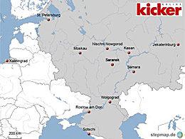 Gewaltige Distanzen: Die WM-Spielorte im Kartenbild