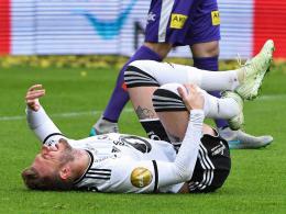 Tränen auf der Bank: Bendtner droht das WM-Aus