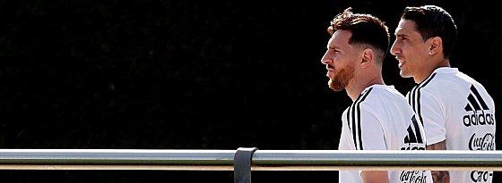 Lionel Messi und Angel di Maria