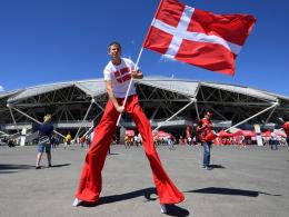 LIVE!-Bilder: Danish Dynamite vs. Socceroos