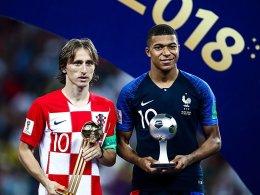 Goldener Ball für Modric, Silberner für Mbappé