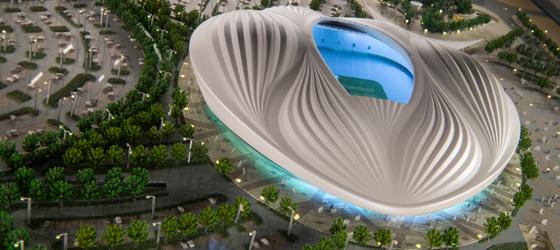 Das Stadion im Modell
