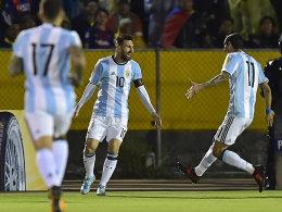 Ein Land dankt Messi: Argentinien ist bei der WM 2018 dabei