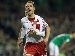 Eriksen schlenzt Dänemark zur WM 2018