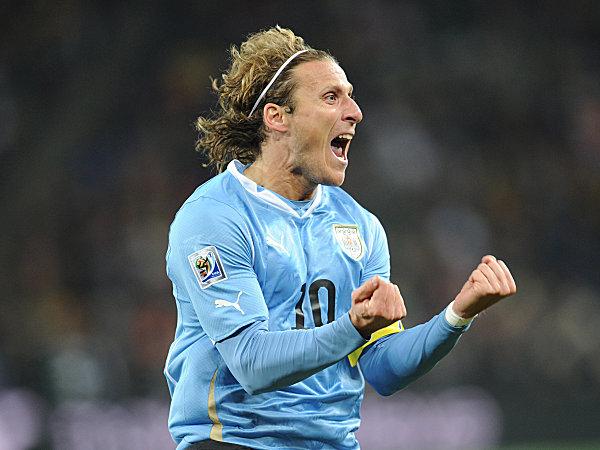 Geschafft: Forlan und Uruguay stehen im Halbfinale der Weltmeisterschaft.