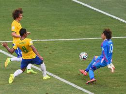 David Luiz, Paulinho & Guillermo Ochoa