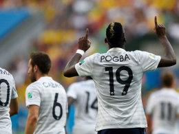 Erzielte das 1:0 und sendete anschließend Grüße gen Himmel: Paul Pogba.