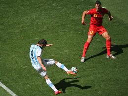 Erzielte volley das Tor des Tages: Gonzalo Higuain.