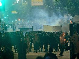 Auch in Rio de Janeiro eskalierte die Gewalt in der Nacht von Donnerstag auf Freitag.
