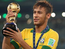 Drückte dem Confed-Cup im Heimatland den Stempel auf: Brasiliens Jungstar Neymar.