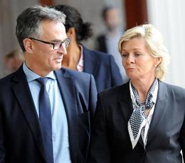 Helmut Sandrock und Silvia Neid