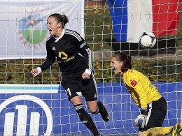 Dank des Treffers von Ana-Maria Crnogorcevic bleibt der FFC Frankfurt in der Tabelle ganz oben.