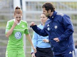Verena Faißt und VfL-Trainer Ralf Kellermann