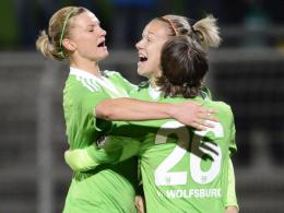 Wolfsburg ist Herbstmeister: Alexandra Popp (li.) erzielte das 1:0 für den VfL.