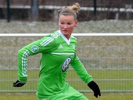 Alexandra Popp brachte den VfL Wolfsburg gegen Jena in Führung.