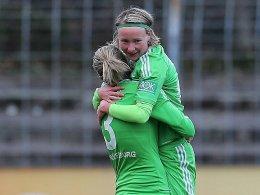 Spätes Glück: Conny Pohlers erzielte Wolfsburgs Siegtor in Freiburg.