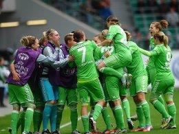 Triple vor Augen: Der VfL Wolfsburg erreicht souverän das CL-FInale der Frauen.