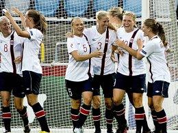 Norwegerinnen bejubeln das zwischenzeitliche 1:0