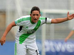 Nadine Keßler brachte Wolfsburg in Jena in Front, doch zum Dreier reichte es für den VfL nicht.