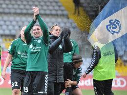 Künftig unter der Fahne des MSV: Die Spielerinnen des (bisherigen) FCR Duisburg.