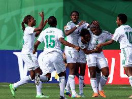 Nigeria feuerte sich ins Finale der WM und feierte entsprechend