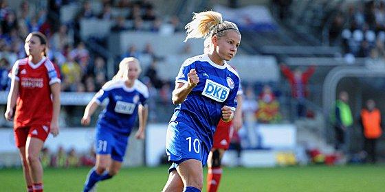 Julia Simic will bald f�r den VfL Wolfsburg Tore schie�en.