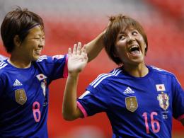 Dank ihres Siegtreffers bestens gelaunt: Japans Mana Iwabuchi.