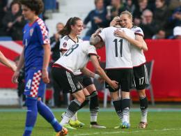 2:0 gegen Kroatien - DFB-Frauen l�sen EM-Ticket