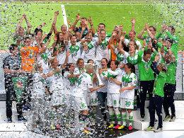 Wolfsburg kr�nt sich gegen ein tapferes Sand