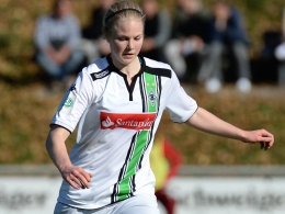Erzielte beim KSC drei Treffer: Gladbachs Nadja Pfeiffer (Archivfoto).