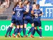 Potsdams Spielerinnen hatten gegen Frankfurt allen Grund zum Jubeln.