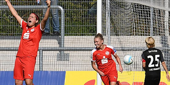 Remis erkämpft: Essen durfte beim 2:2 in Frankfurt einen Punkt bejubeln.
