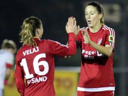 Torjägerinnen unter sich: Furtuna Velaj und Milena Nikolic.