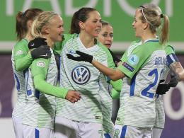 Wolfsburg steht mit einem Bein im Halbfinale