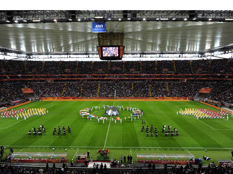 Vor dem Finale zwischen Japan und den USA fand in Frankfurt die Abschlussfeier der Weltmeisterschaft statt.