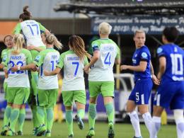 3:1 in London: Wolfsburg mit einem Bein im CL-Finale!