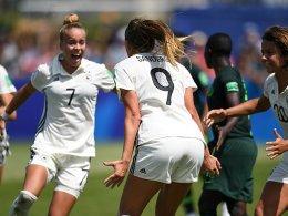 Sanders staubt ab: DFB-Juniorinnen schlagen Nigeria