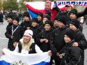 """Das """"Team Europa"""" mit russischen Fußballfans"""