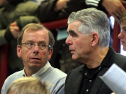 Paul Schomann (links) mit DFB-U15-Trainer Frank Engel