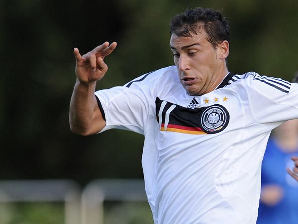 Überragend: Cenk Tosun traf dreimal für die deutsche U19 gegen Polen.