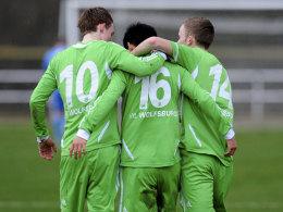 Torjubel der Wolfsburger U19