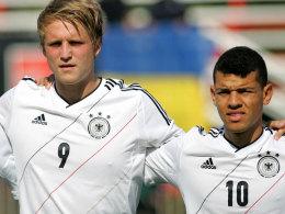 Torschützen unter sich: Philipp Hofmann (li.) und Shawn Parker.